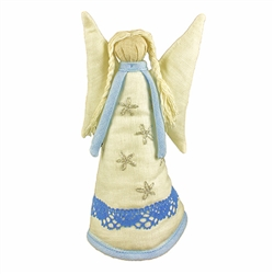 Hand made in Gdansk by a real Polish Kaszubian babcia!   Made of 100% linen and all sewn by hand. Our special keepsake is sure to look splendorous on top of your tree, displayed on a table or in a curio. Enjoy it for many seasons to come!