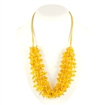 This beautiful amber necklace showcases citrine amber. The beauty of this necklace will last a lifetime. Knotted between each bead.