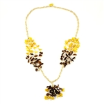 This beautiful amber necklace showcases a variety of amber shades. The beauty of this necklace will last a lifetime. Knotted between each bead.