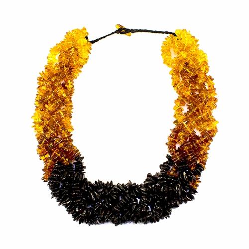 polish art center antique twist amber necklace 22 5 strand