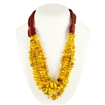 This beautiful amber necklace showcases honey and milky amber. The beauty of this necklace will last a lifetime. Knotted between each bead.