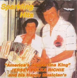 In April 1984 Jersey Polka Richie had the good fortune to meet super star Liberace.  Their friendship grew over the years.  The cover photo here was taken in May 1985 when Richie had the honor to perform at Liberace's birthday party at his Las Vegas Resta