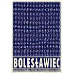 Polish poster designed by artist Ryszard Kaja to promote tourism to Poland. Boleslawiec is the city famous for traditional pottery.