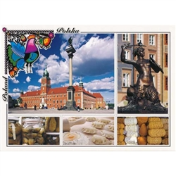 Polish full color glossy post cards are perfect for those school heritage projects. Scenes from around Poland including: