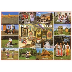 The colorful world of Polish folk culture is pictured in the following areas: