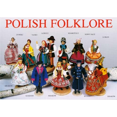 Polish Art Center Post Card Polish Folklore Polski Folklor Ii