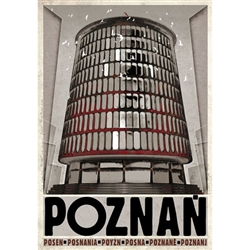 Poznan, Polish Poster designed by artist Ryszard Kaja to promote tourism to Poland.