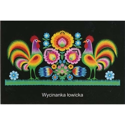 A great example of a traditional Lowicz papercut by Polish folk artist, Maria Ciechanska.