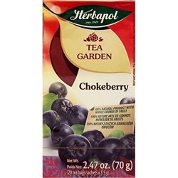 Another delightful and all-natural Polish tea made from the fruits of Chokeberry fruit (55%), Hibiscus flower, Rose hip and Apple.