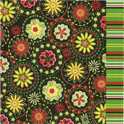 "Polish Folk Art Luncheon Napkins (package of 20) - ""Lowicz Stars"". Three ply napkins with water based paints used in the printing process."