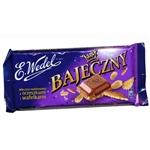 "Popular Polish candy. Bajeczny (""Fabulous in Polish) certainly lives up to its Polish name. A mixture of peanuts, wafer crumbles and hazelnut filling surrounded by chocolate. Yummy!"