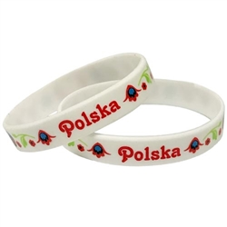 "Polska (Poland) says it all. Medium size (8"" - 20cm) wrist band with a little stretch.