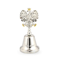 "Polish Bell Dzwonek - Revolving ""Polska"" and Polish Eagle in Handle"