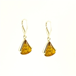 Beautiful set of tear drop shaped earrings set in Sterling Silver.