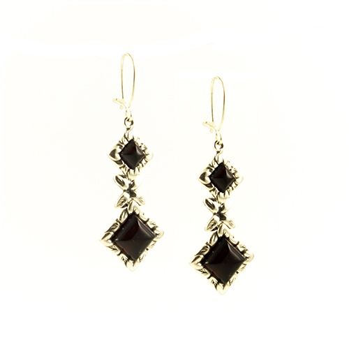 Antique Style Cherry Amber Earrings