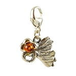 Cute little miniature angel in sterling silver charm.
