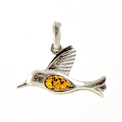 Humming Bird Amber Pendant