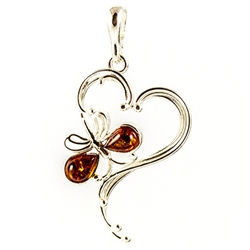 Hand made with Sterling Silver detail Amber (Bursztyn in Polish) is fossilized tree sap that dates back 40 million years. It comes from all around the world, but the highest quality and richest deposits are found around the Baltic Sea.