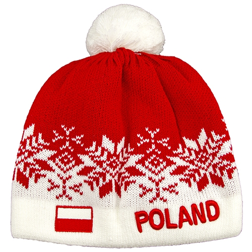 8ca0a22ca541 Display your Polish heritage! Red and white stretch ribbed-knit winter cap  with the
