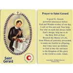St Gerard Holy Card This unique prayer card contains a third class relics on the front with the prayer on the back. Please note that these are third class relics and are not first or second class with a piece of cloth touched to the relics.