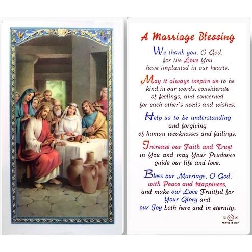 Catholic marriage blessing