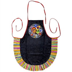If you are a fan of Polish paper cuts you'll love this apron.  Please note that the strap colors vary.