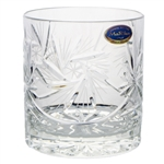 Beautiful set of (6) Polish Hand-Cut Lowball Glasses with a delightful pinwheel design. Genuine 24% lead crystal.