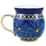 "A beautiful design by master artist Jacek Chyla! Hand made in Poland. SIgned by the artist. The artist has been connected with the Artistic Handicraft Cooperative ""Artistic Ceramics and Pottery"" since 1986. Since 1994 he has been a pattern designer. U408C"