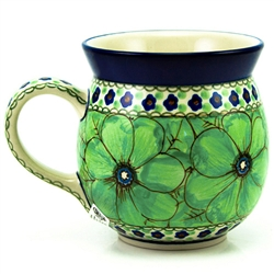 "A beautiful design by master artist Jacek Chyla! Hand made in Poland. SIgned by the artist. The artist has been connected with the Artistic Handicraft Cooperative ""Artistic Ceramics and Pottery"" since 1986. Since 1994 he has been a pattern designer. U408a"