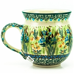 "Designed by master artist. Krystyna Dacyszyn The artist has been connected with the Artistic Handicraft Cooperative ""Artistic Ceramics and Pottery"" since 1990. A pattern designer since 2002.  Unikat pattern U4334."