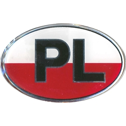 Waterproof indoor/outdoor sticker perfect for a heritage room display or on a truck or van. PL are the designated letters for Poland in Europe. High quality, reflective letters, flexible raised vinyl. Simply peel and stick.