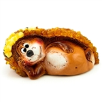 A miniature terracotta amber encrusted hedgehog....a Lithuanian specialty.