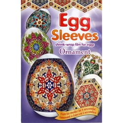 Each package contains one four-color sleeve, which may be cut into (7) unique designs. Fun to make * Easy to put on * Eggs remain edible * 7 unique designs.