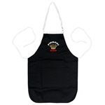 "A perfect gift for that special ""Pole""! A black kitchen apron, with the words: ""Pierogi King"" embroidered on the front panel. Great for indoor use or that summer barbecue. Note that the latest shipment has the crown in gold thread."