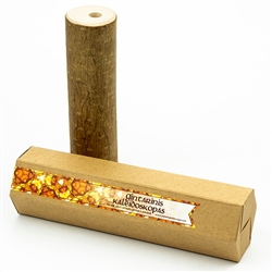 Ecological kaleidoscope placed within natural branch of a hazel tree and filled with tiny pieces of amber. Made by hand, without removal of bark and without usage of any painting or impregnation materials.