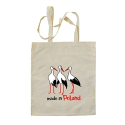 Every spring the storks return to Poland to nest, enjoy the summer and hatch babies, thus Made In Poland.  They are considered a great symbol of good luck if they nest on your rooftop or in your neighborhood.  Storks always return to the same nest