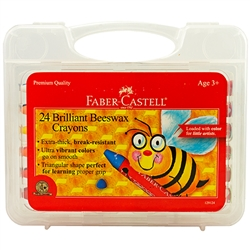 Brilliant Beeswax Crayons In Storage Case 24/Pkg by Faber-Castell