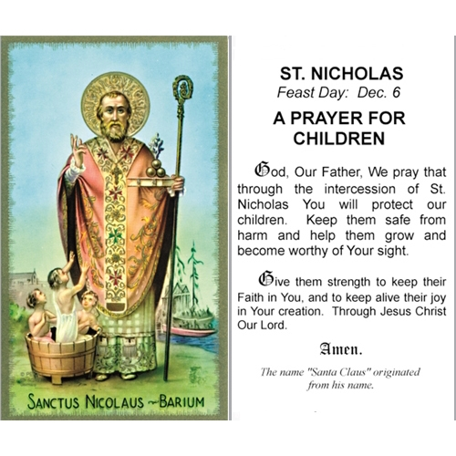 prayer to st nicholas of myra