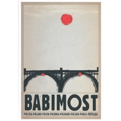 "Babimost, Polish Promotion Poster designed by artist Ryszard Kaja. It has now been turned into a post card size 4.75"" x 6.75"" - 12cm x 17cm."