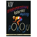 "XIV International Peace Race poster designed by artist Wiktor Gorka. It has now been turned into a post card size 4.75"" x 6.75"" - 12cm x 17cm."