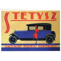 "Stetysz, 1927 Polish Advertising Poster It has now been turned into a post card size 4.75"" x 6.75"" - 12cm x 17cm."