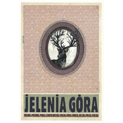 "Jelenia Gora, Polish Promotion Poster designed by artist Ryszard Kaja. It has now been turned into a post card size 4.75"" x 6.75"" - 12cm x 17cm."