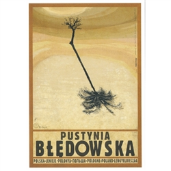 "Pustynia Bledowska, Polish Promotion Poster designed by artist Ryszard Kaja. It has now been turned into a post card size 4.75"" x 6.75"" - 12cm x 17cm."