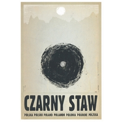 "Czarny Staw, Polish Promotion Poster designed by artist Ryszard Kaja. It has now been turned into a post card size 4.75"" x 6.75"" - 12cm x 17cm."