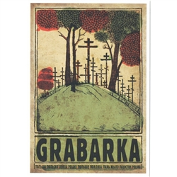 "Post Card: Grabarka, Polish Promotion Poster designed by artist Ryszard Kaja. It has now been turned into a post card size 4.75"" x 6.75"" - 12cm x 17cm."