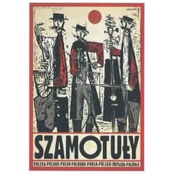"Post Card: Szamotuly, Polish Promotion Poster designed by artist Ryszard Kaja. It has now been turned into a post card size 4.75"" x 6.75"" - 12cm x 17cm."