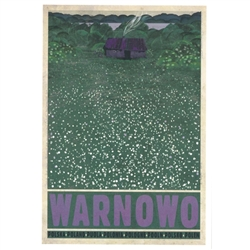 "WARNOWO, Polish Village, Promotion Poster designed by artist Ryszard Kaja. It has now been turned into a post card size 4.75"" x 6.75"" - 12cm x 17cm."