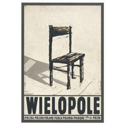 "Wielopole, Hommage a Kantor, Polish Poster designed by artist Ryszard Post Card: Kaja. It has now been turned into a post card size 4.75"" x 6.75"" - 12cm x 17cm."