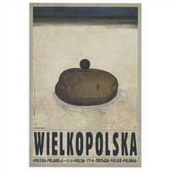 "Wielkopolska, Polish Poster designed by artist Ryszard Post Card: Kaja. It has now been turned into a post card size 4.75"" x 6.75"" - 12cm x 17cm."