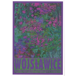 "Wojslawice, Arboretum, Polish Promotion Poster designed by artist Ryszard Post Card: Kaja. It has now been turned into a post card size 4.75"" x 6.75"" - 12cm x 17cm."